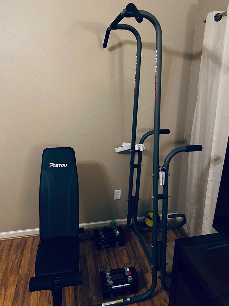 A small home gym.